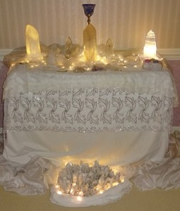 meditation room alter